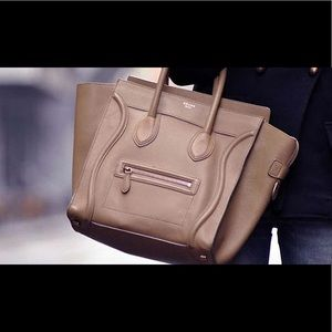 Celine Luggage Tote in Tan